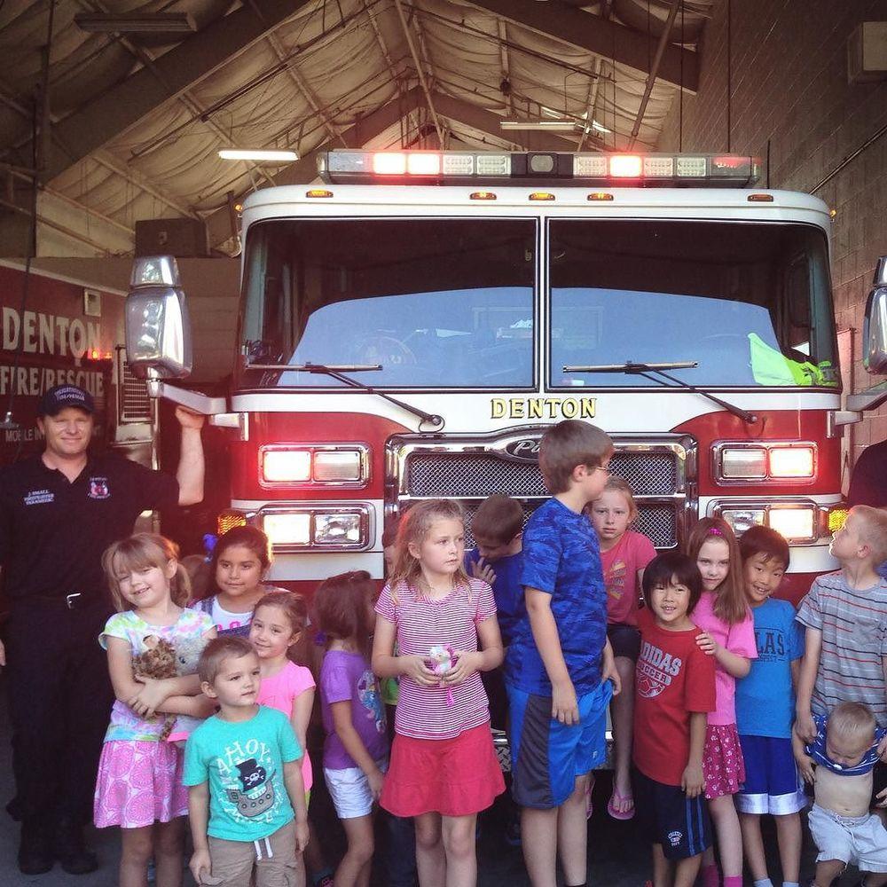 @dentonpubliclibrary helped some kids visit fire station #6.