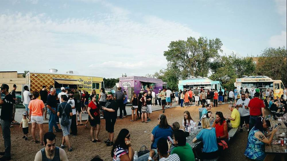 A couple dozen food trucks came into town on Thursday night to feed hungry Dentonites. We tried quite a few and hope to see more come back soon. Photo by @PeopleofDenton.
