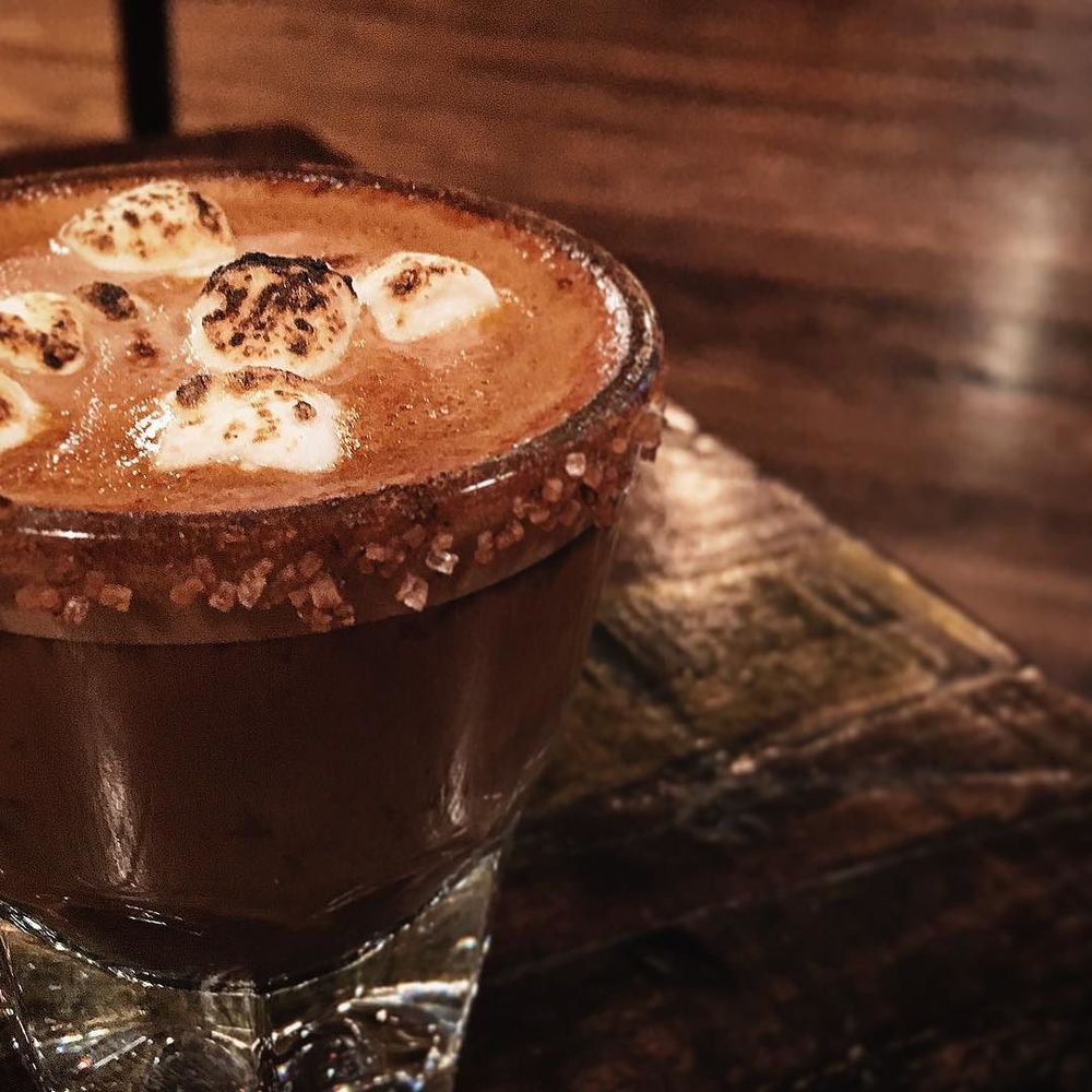 "So West Oak Coffee Bar has a ""Campfire Cortado"" now complete with toasted marshmallows on top. How are you not drinking this right now? Photo by @rowdybridges."