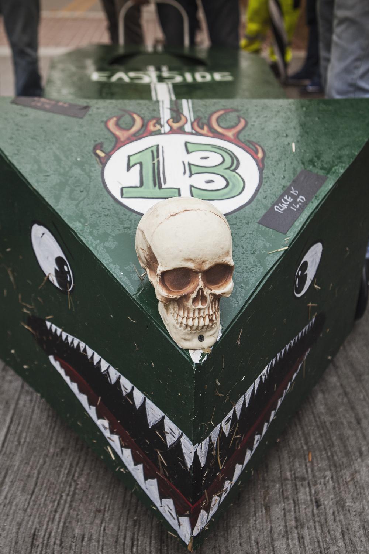 The Eastside coffin.