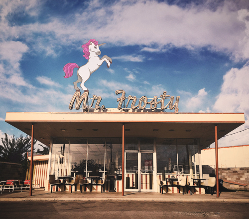 An artist's rendering of a Unicorn on Mr. Frosty's AKA something that we may see soon in Denton.