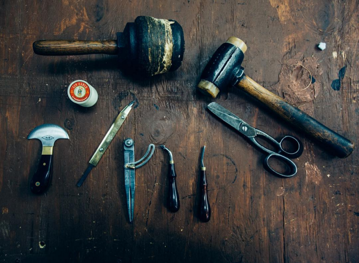 We don't think @BellandOak meant for this image to seem frightening, but these leather working tools sure as hell look like they could be used for murder or at least murderous things.