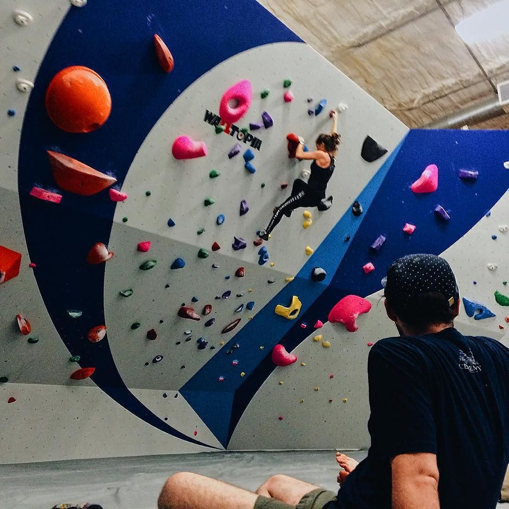 So, uh... y'all can climb walls in Denton now. @cadecargill did. We can't wait to go check out Summit on Oak St.