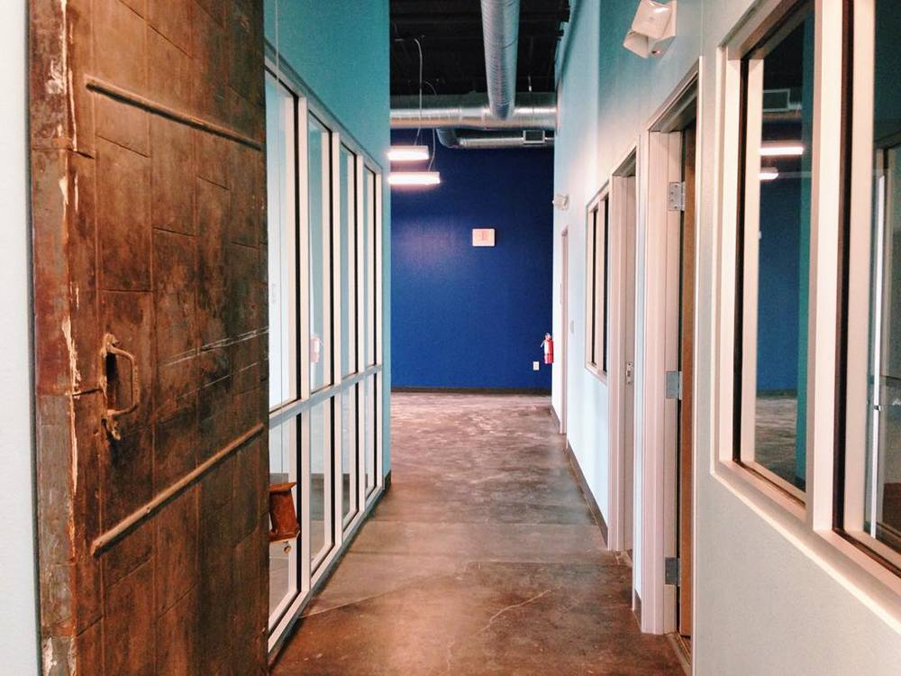 Inside the soon-to-open co-working space, The Railyard. Photo by @batesmartin.