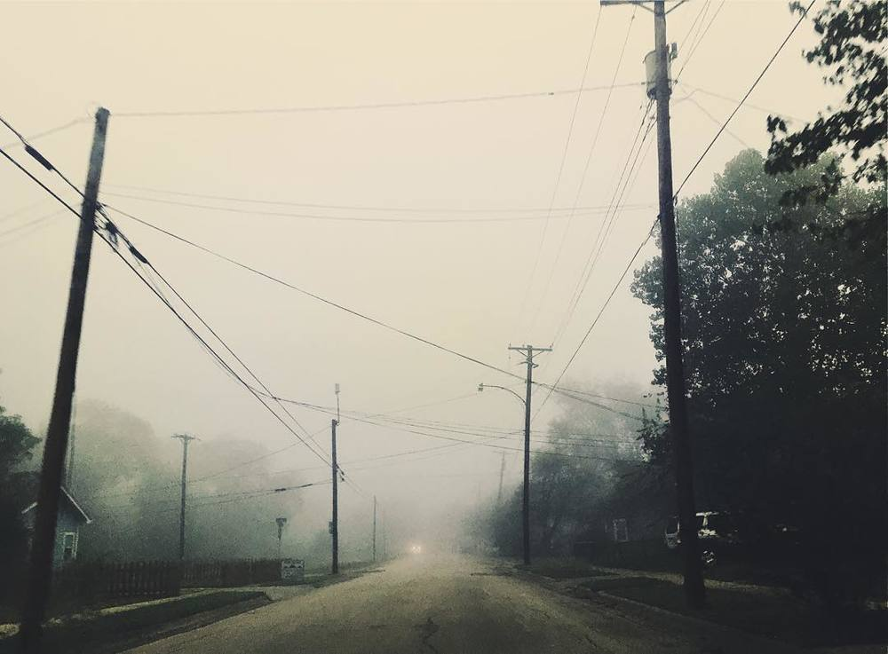 Eerie early morning fog photo from @sierraxrenee.
