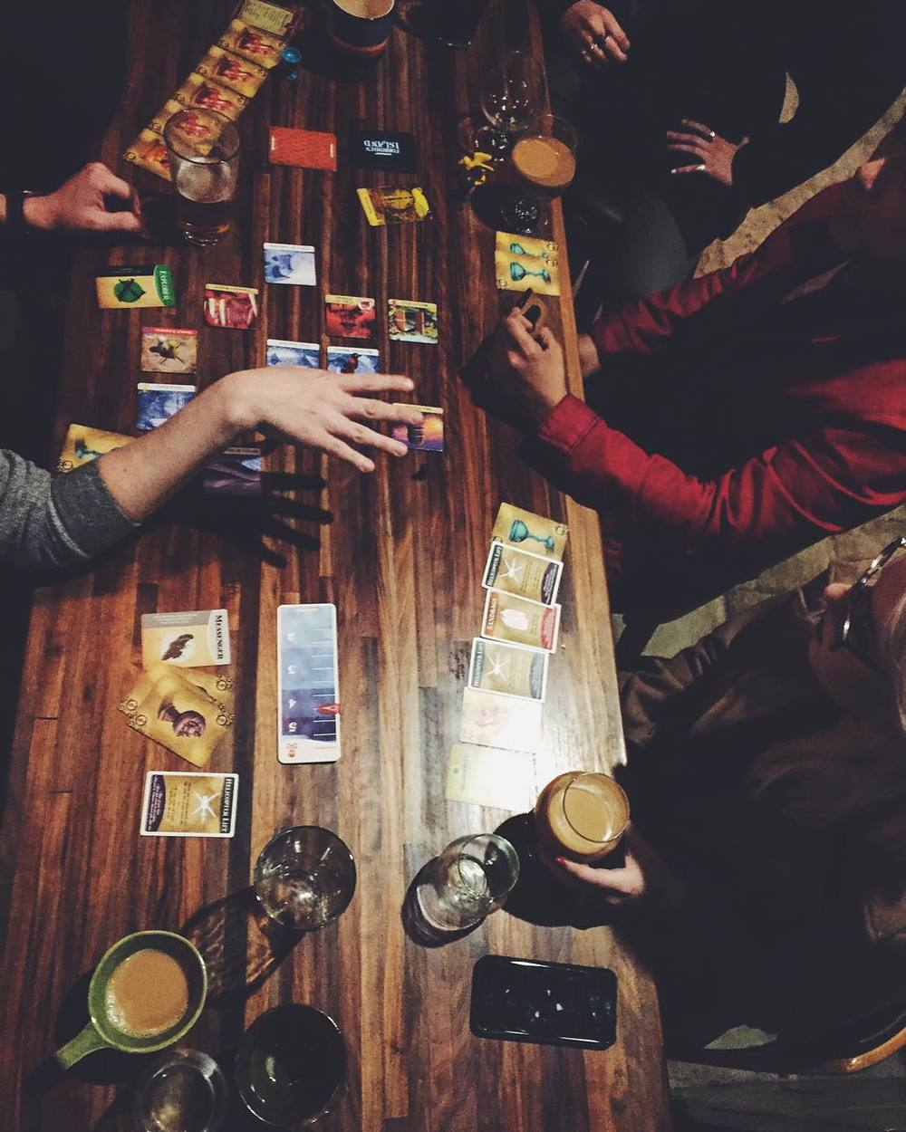 @liz.wakefield doing it right with some card gaming and alcohol.
