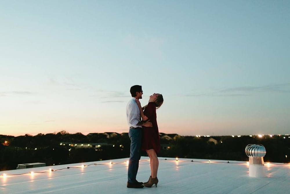 Rooftop proposals in Denton. @jc_higgins