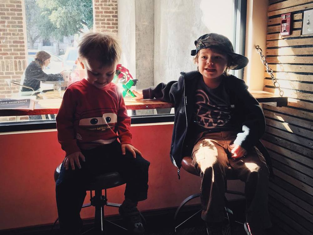 @aaronlancelopez and crew at West Oak Coffee Bar.