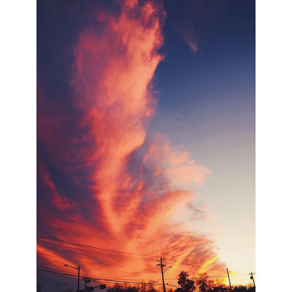 @andrea_darling with some Denton sky goodness.
