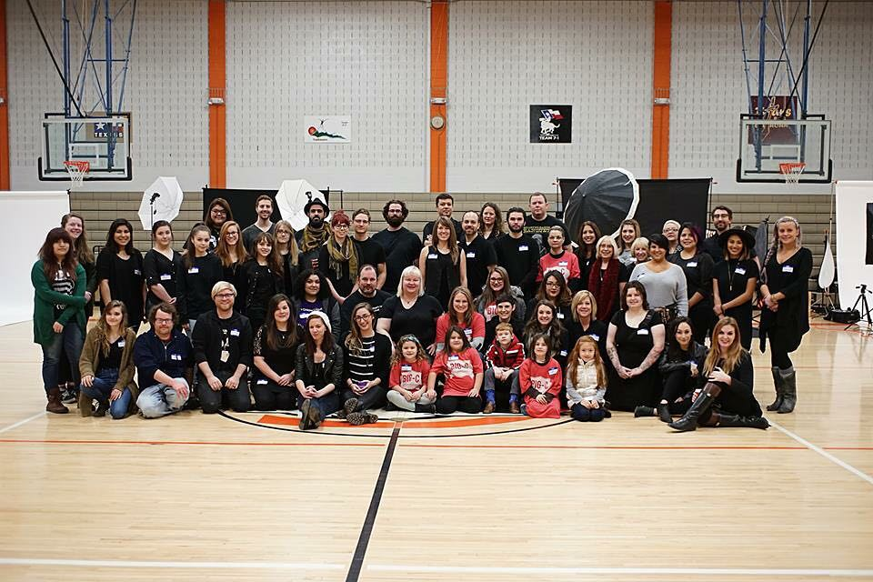 @helpportraitdenton set up at Calhoun Middle School on Saturday to photograph families and individuals in need.