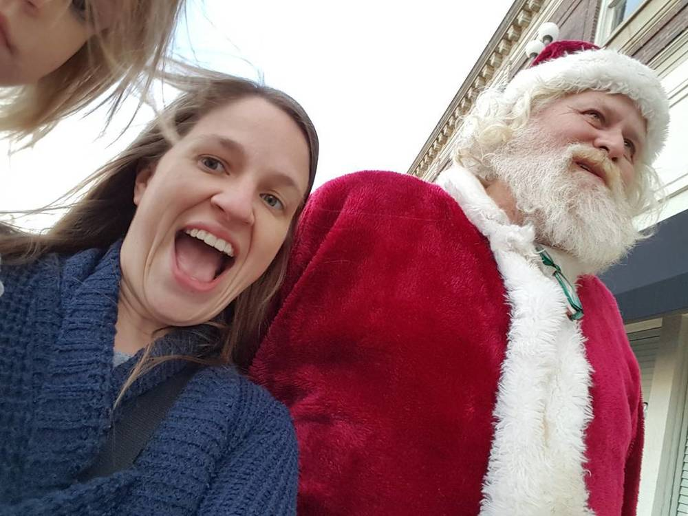 @makerteacherlibrarian got an up close shot of the one and only Santa. Too bad Krampus wasn't allowed to hang out at the Holiday Lighting Festival this year.