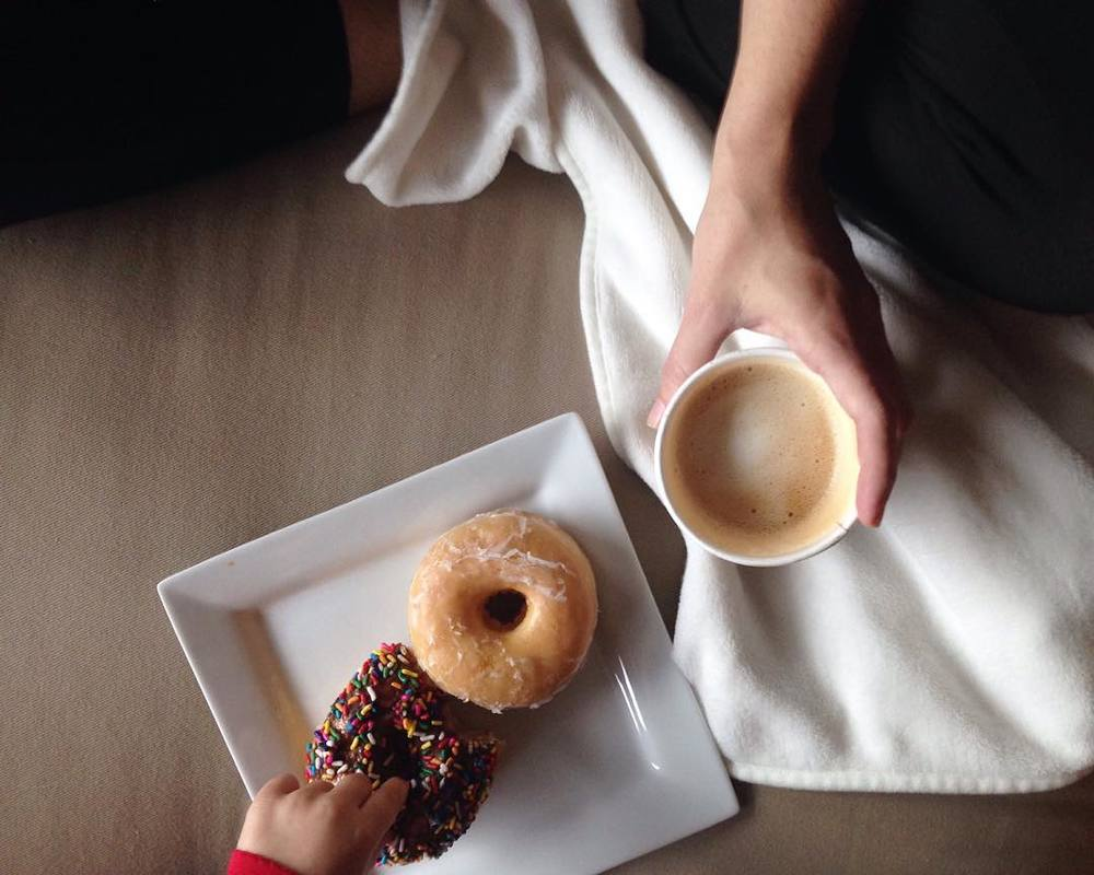 @cassiearnoldart knows that Folger's is, in fact, one of the worst things about waking up. Donuts and freshly-ground and made coffee are the way to go.