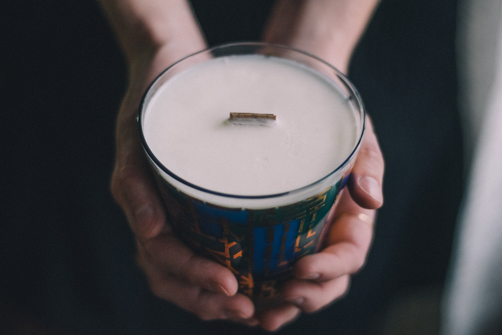 A candle from Resoycled is just one of our many Denton Christmas gifts you can buy in town. Check out the rest below! Image by Jordan Stricker of  @fiftyfiveonepointfour