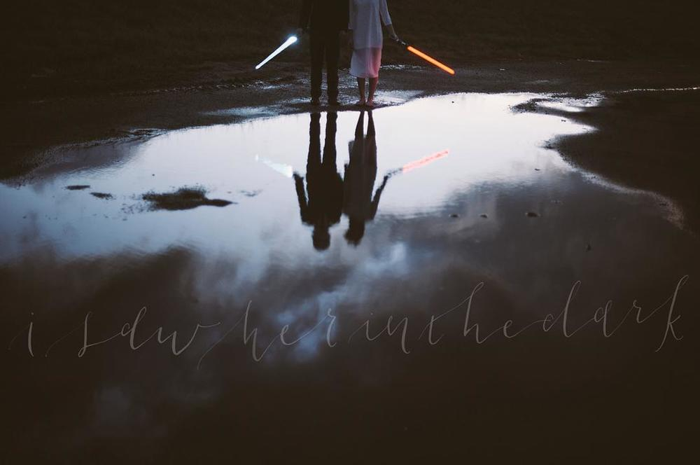 @neonsheepcalligraphy got a few folks together (namely @mcelligottphoto and @gatheredfloraldesign) for a great series that combined photography and Star Wars and we kinda love 'em. Check out the rest on their Instagram.