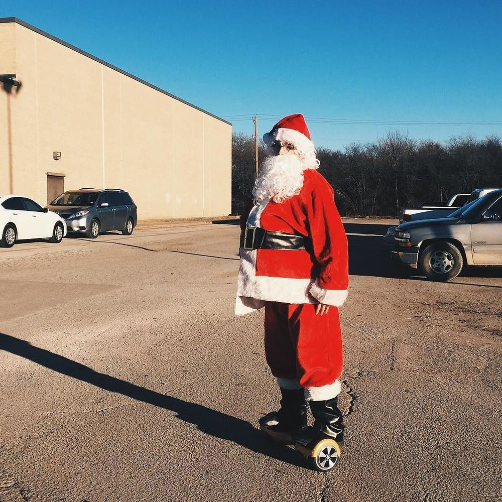 @ben_lytle captured this hover-boarding Santa outside of a Star Wars showing last week.