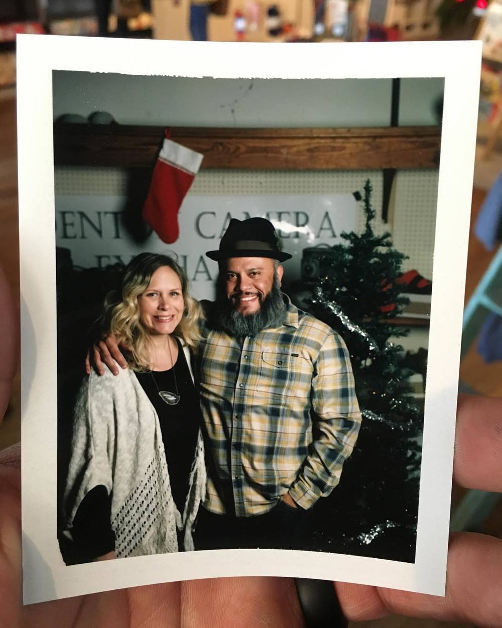 "Maybe we should add ""have your portrait taken on instant film from Armand at Denton Camera Exchange"" to our Denton Bucket List items. Photo posted by @fabe5150."