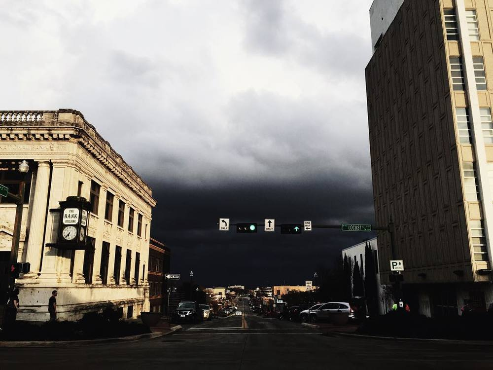 @Mollythevaldez captured this amazing shot of an ominous sky over Hickory St. last week.
