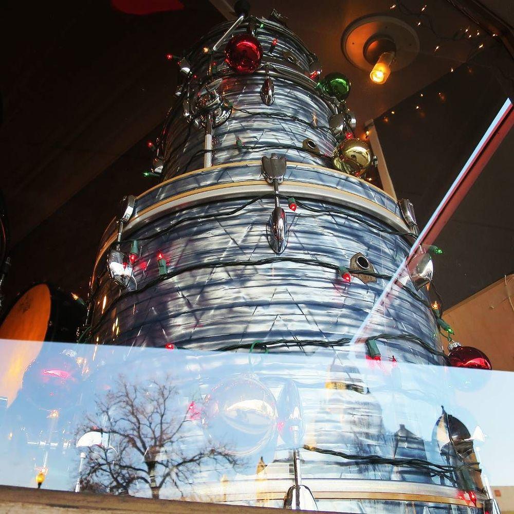 @TheGhostNote's drum Christmas tree.