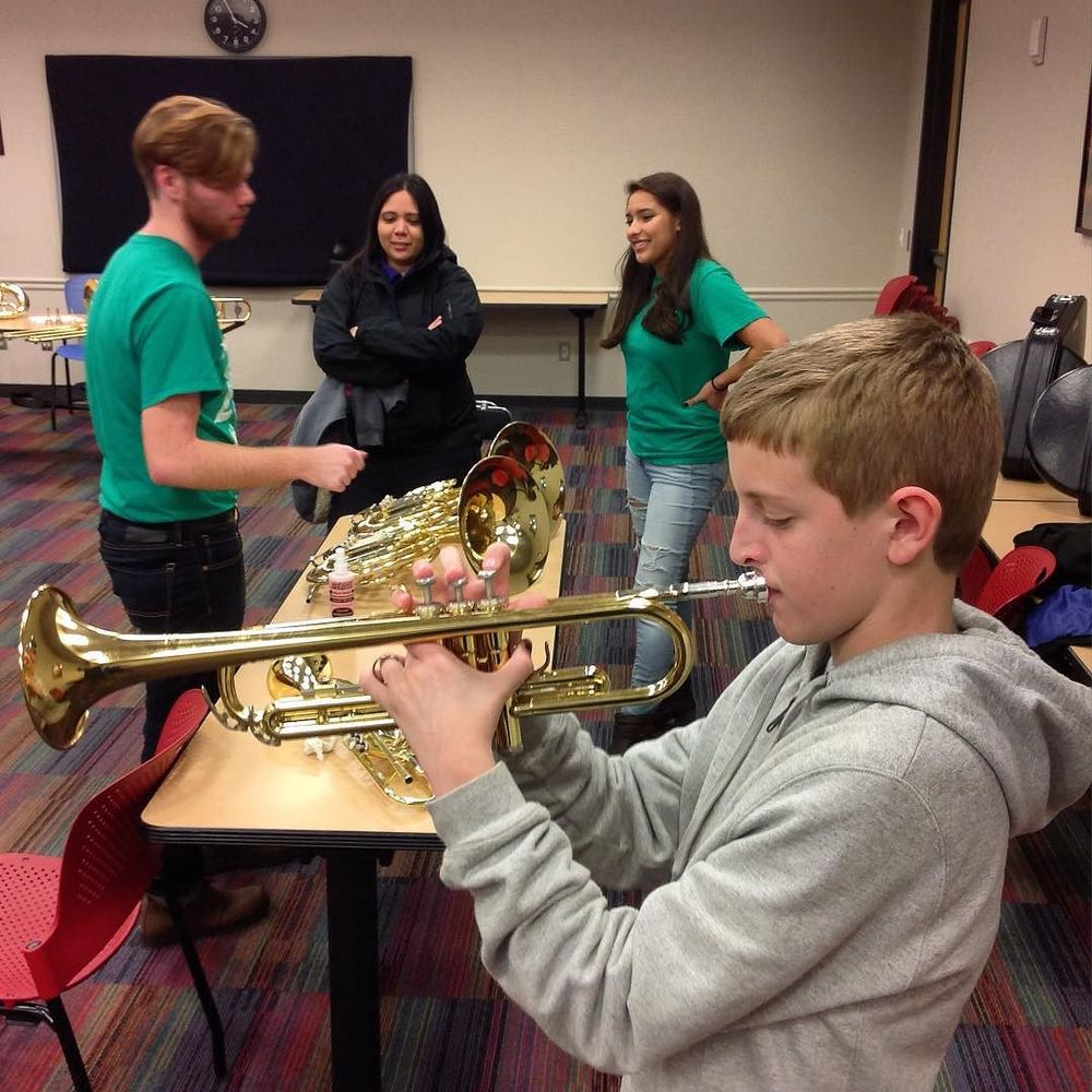 @dentonpubliclibrary held an instrument petting zoo last week.