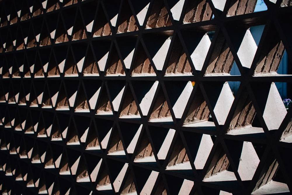 Honeycomb shadows at Emily Fowler Library. Photo by @andrewbwelchphoto.