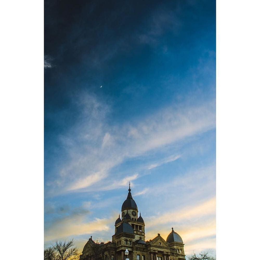 @jayhumez caught the courthouse in front of a great sky last week.