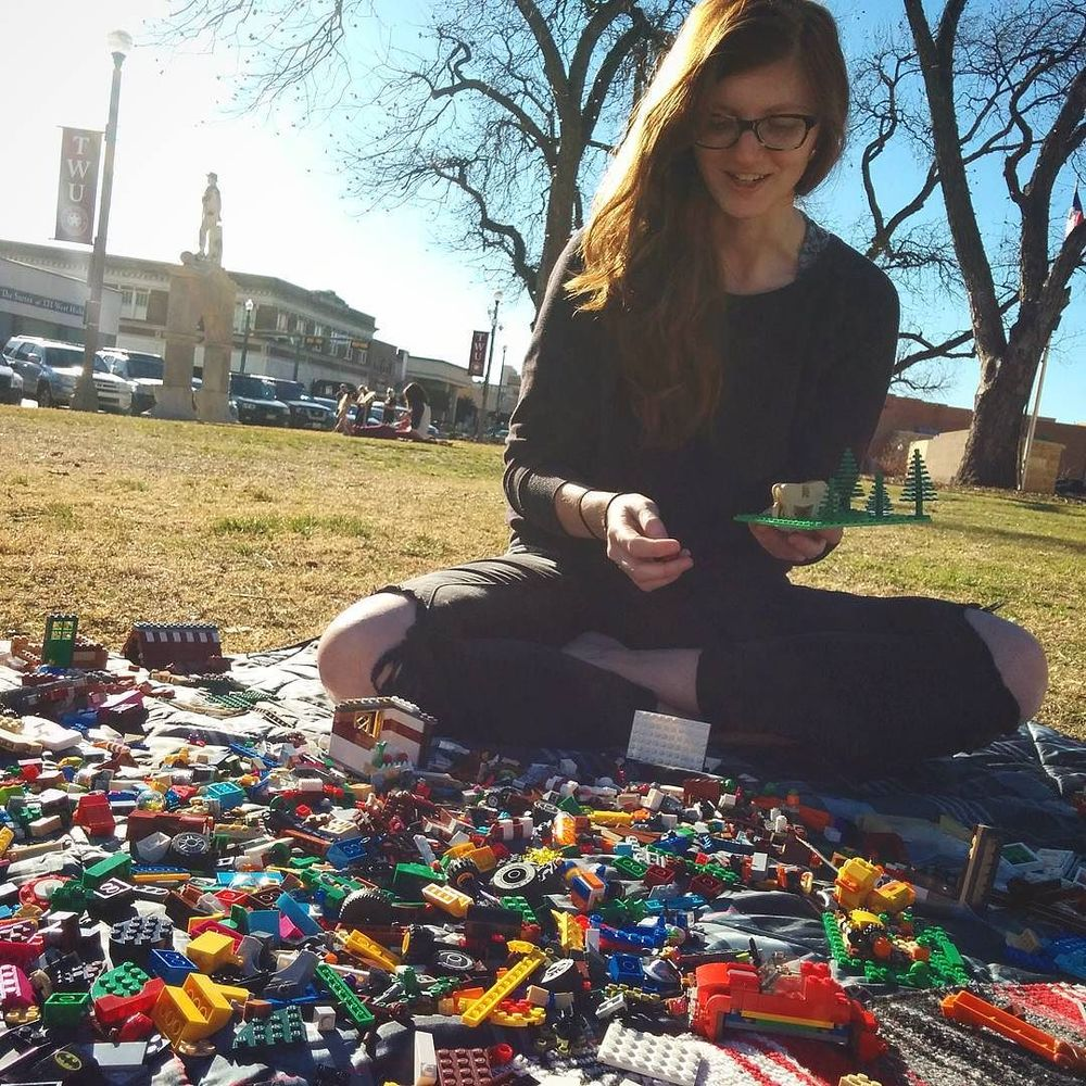 @victhebear and some Legos on the square. If you step on one while you're barefoot on the square, you now know who to DM.