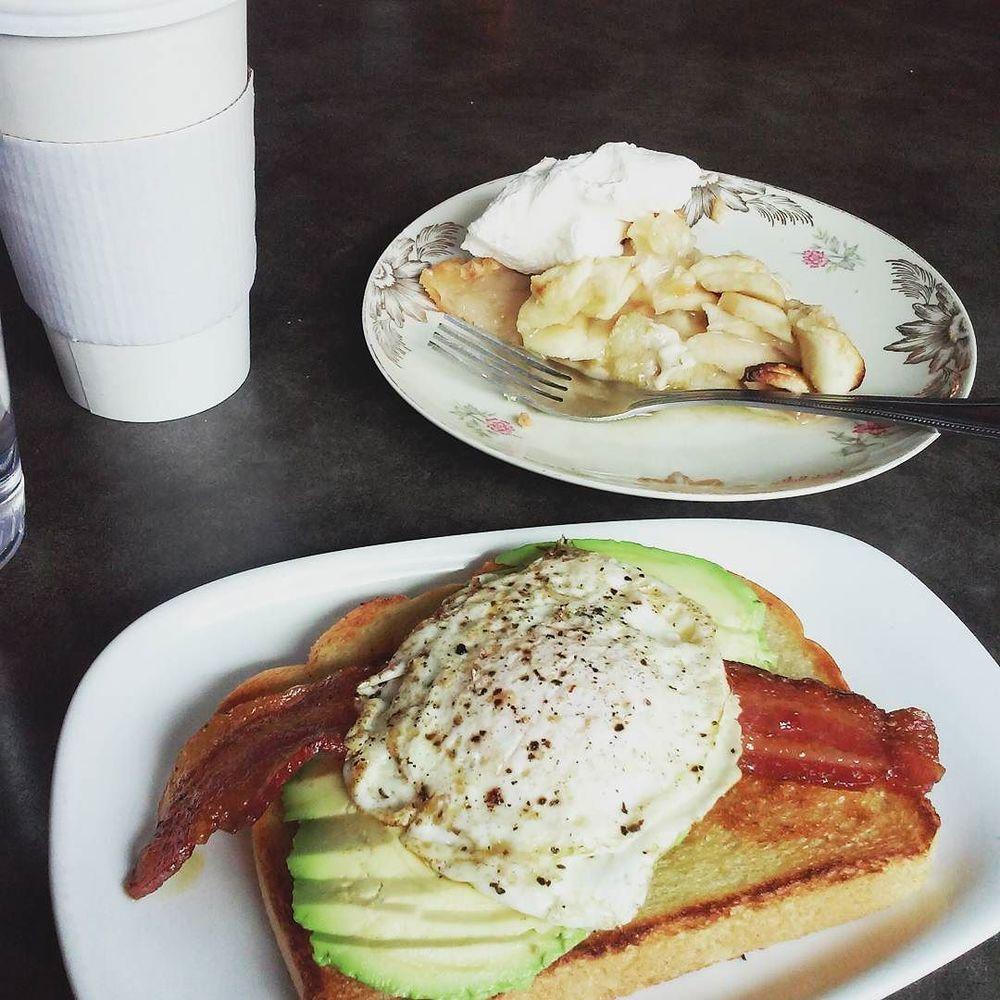 @life.of.a.jack with some delicious breakfast at West Oak Coffee Bar.