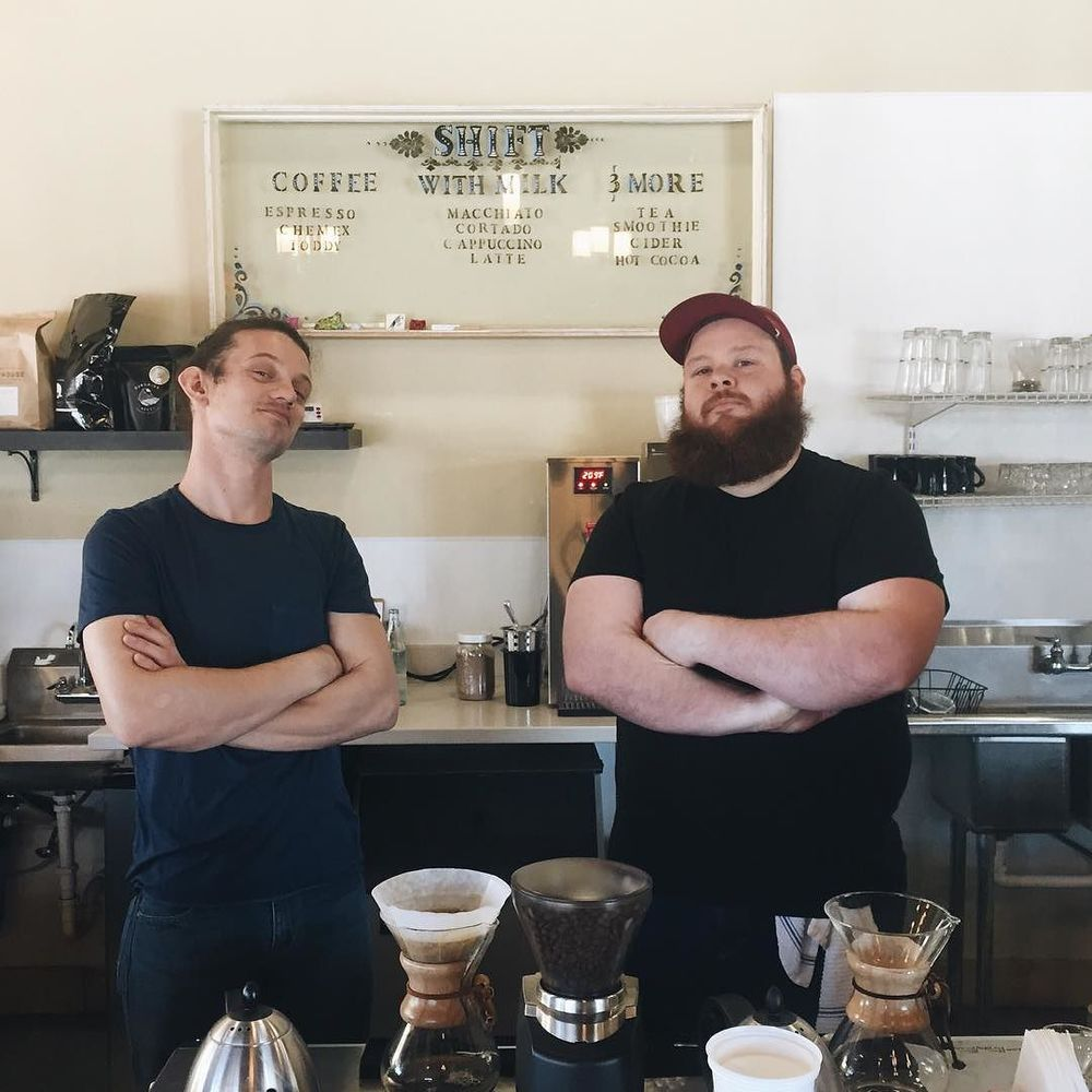 @ben__lytle captured some mean-mugging at Shift Coffee.