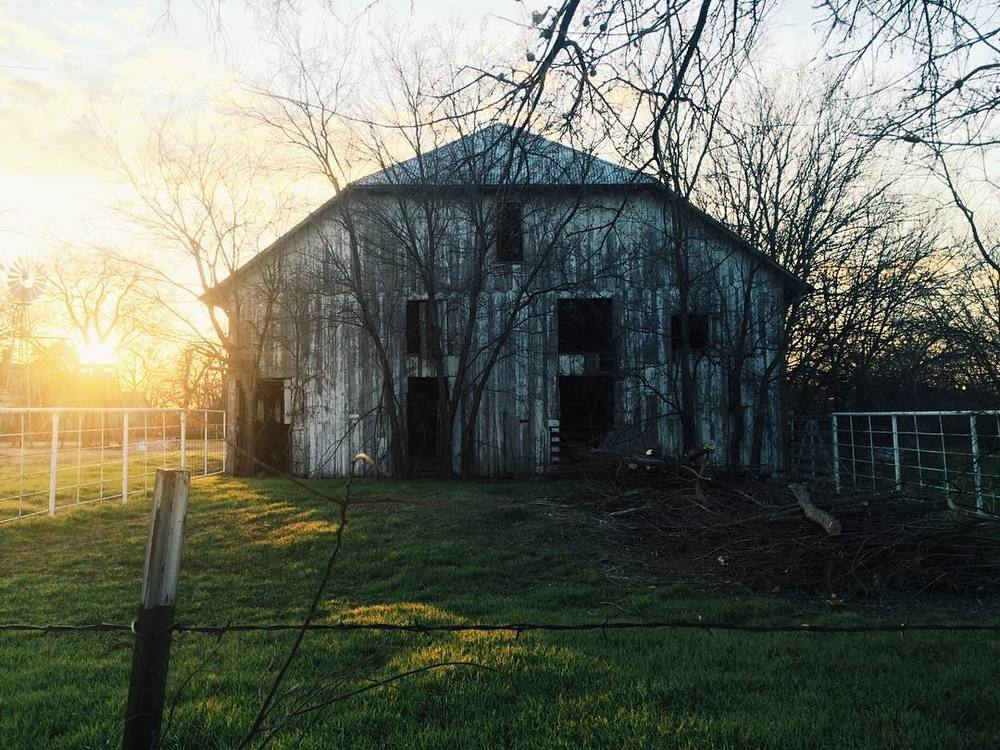 @jadewintersee and a sunset over a barn.