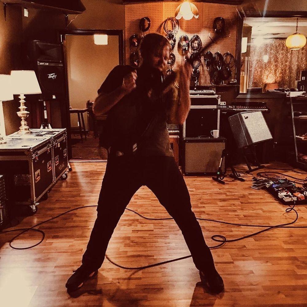 Eric Nichelson rocking out at @dentonmusicworkshop.