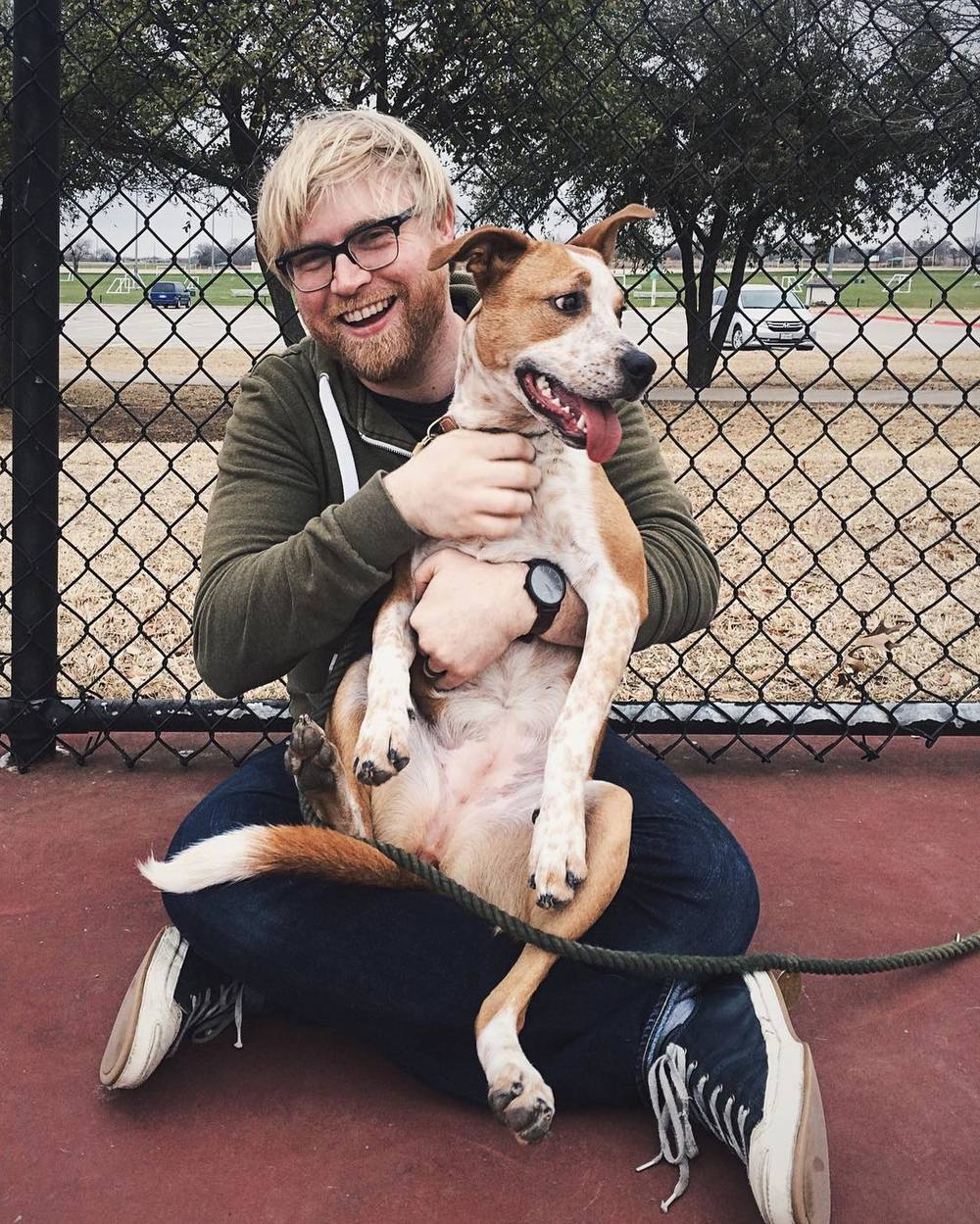 @__will with Deni from @DentonAnimals. You know you want a dog, too. Go adopt one. Unless you're Nick Amendola in which case you're probably not allowed to adopt an animal.
