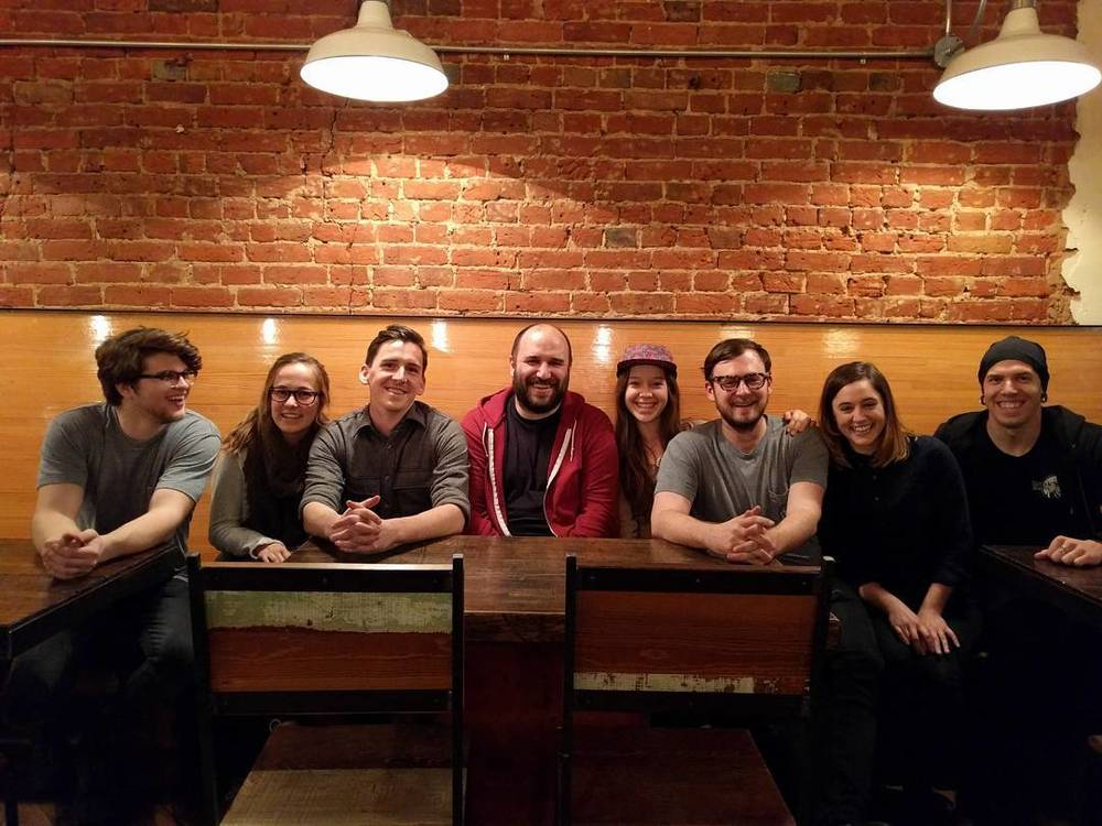 @joshpiers caught this image of David Bazan with the West Oak Coffee Bar crew.