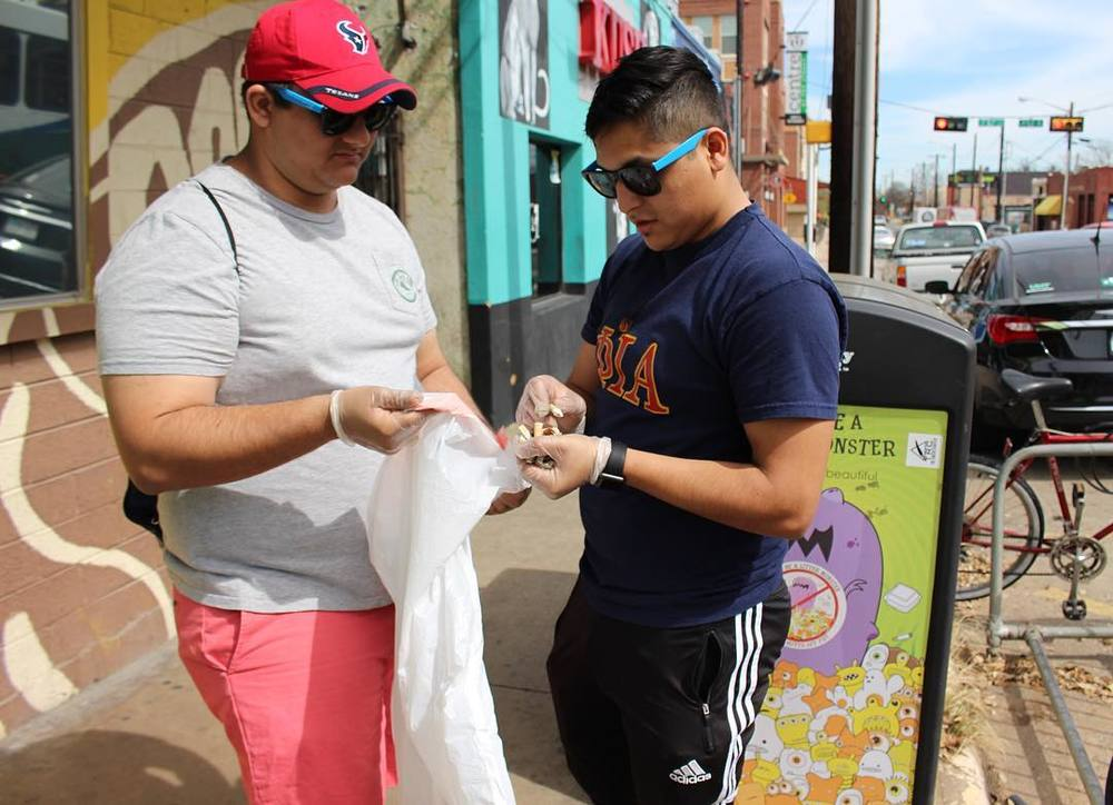 With absolutely zero thanks to Nick Amendola, Keep Denton Beautiful's (@kdbdenton') Cigarette Litter Prevention Program cleaned up a lot of butts off of Denton streets.