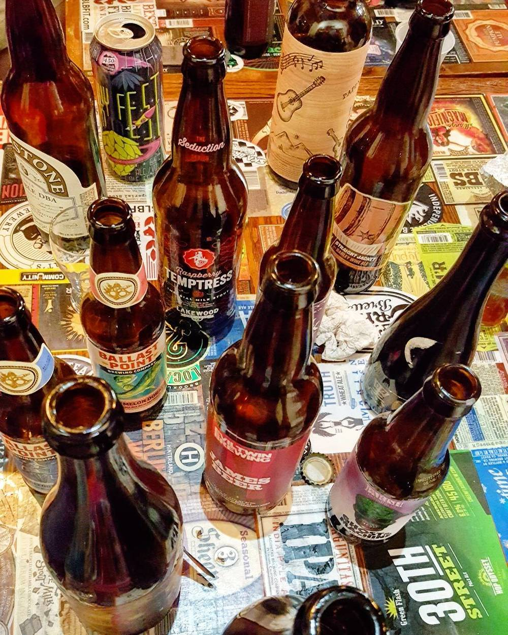 @greatamericanbrewerytour with a bottle share at The Bearded Monk last week.