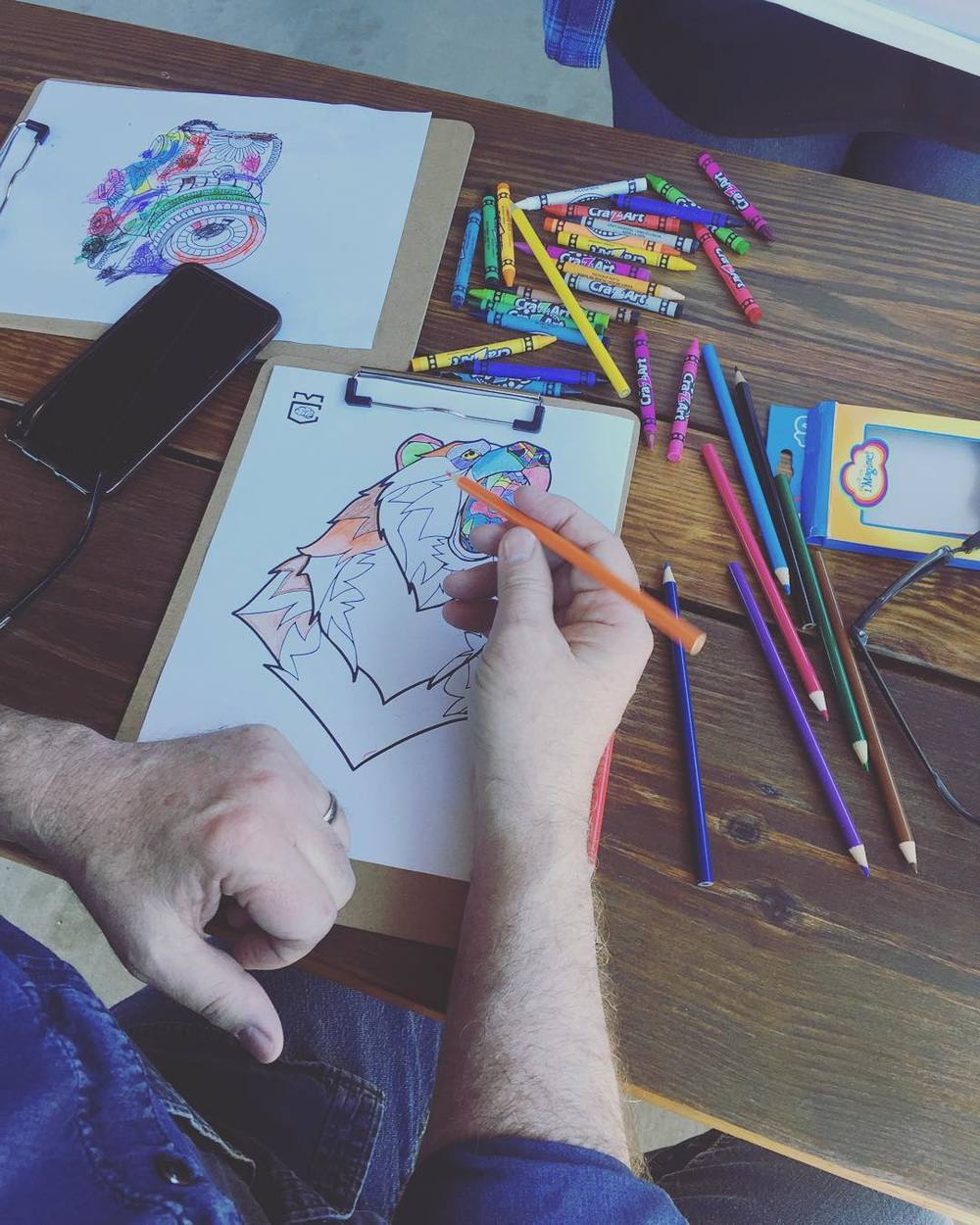Adult coloring at @harvesthousedenton.