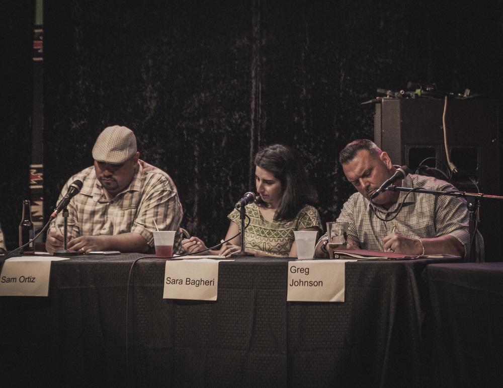 Sam Ortiz, Sara Bagheri, and Greg Johnson.