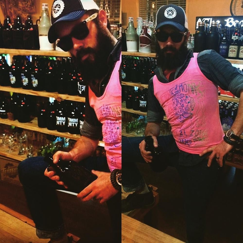 @beardedmonk is a growler bar and model incubator.
