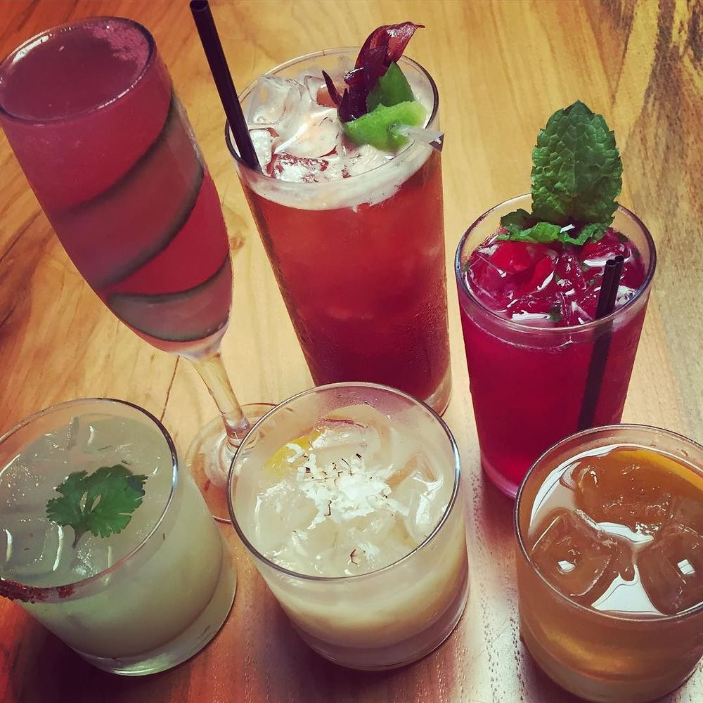 Summer drinks at @hannahsoffthesquare from @older_fashioned.