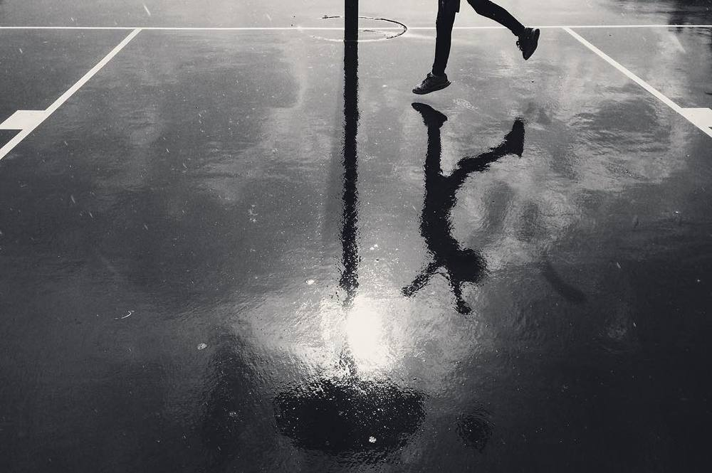 Basketball in the rain with @__will.