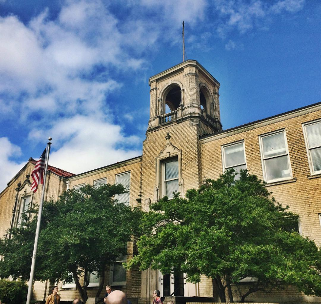 On Saturday, the City Hall West building received its historic marker dedication. Photo by @wedentondoit.