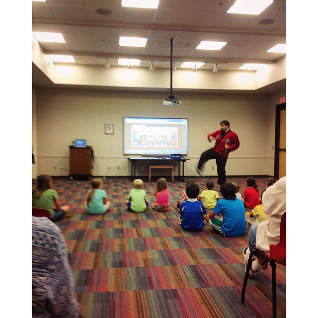 Red Tiger Karate at @dentonpubliclibrary.