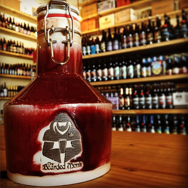 Check out these handmade growlers from @orcasislandgrowlers that you can grab at @beardedmonk.