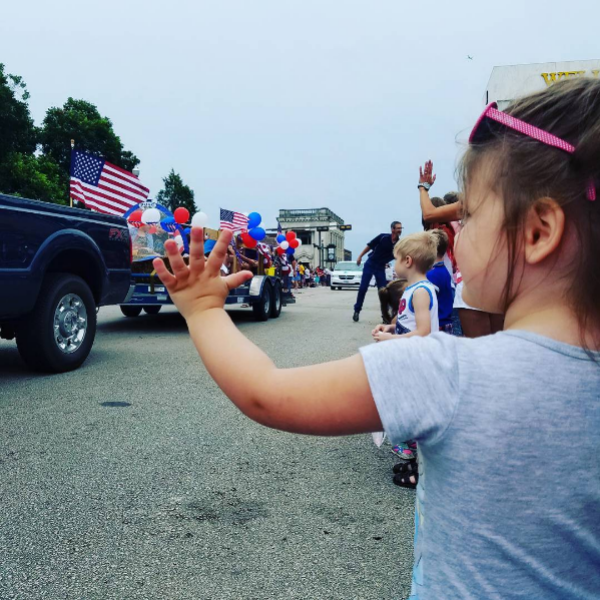 This year's 4th of July Parade in downtown Denton was made even more amazing with some unseasonably nice weather. Photo from @txbhrtfld.