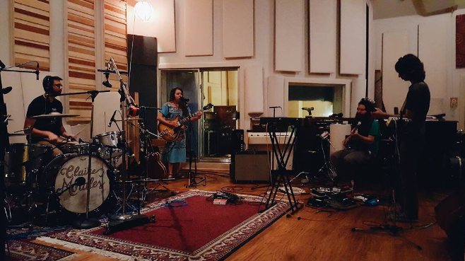 Local songstress Claire Morales recording recently at The Echo Lab. Photo by @thevisionbeautiful.