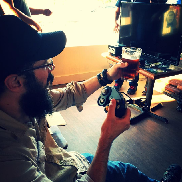 @beardedmonk warming up for their Mario Kart Game Night with @freaksandgeeksdenton.