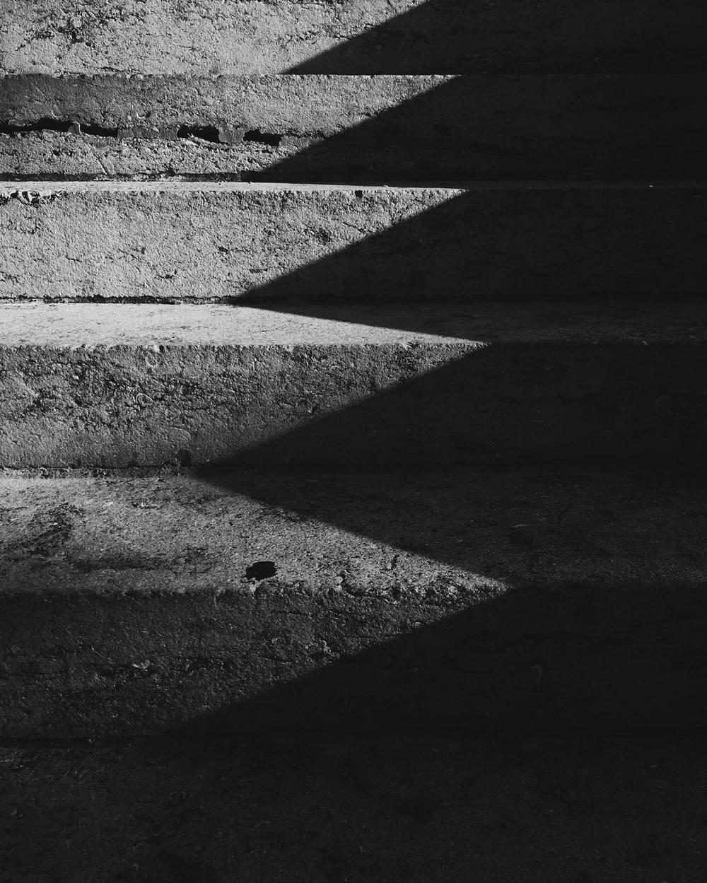 The Courthouse stairs outside get some fun angles at this time of year when the sun is at the right angle. Photo by @__will.
