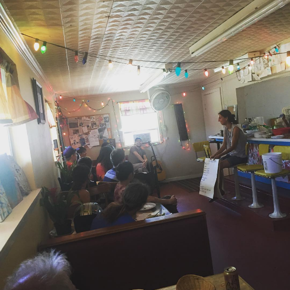 """A photo from the monthly """"Get Involved"""" Potluck meeting at @dorothyskitchentable. Get more information on this great Denton business and how you can get involved here."""
