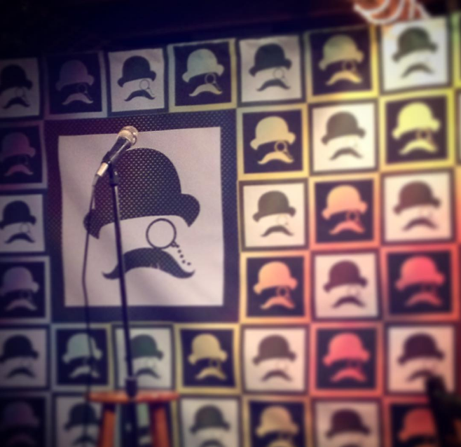 @stevenbell92 with a shot of the inaugural @dentoncomedyfestival at J and J's.