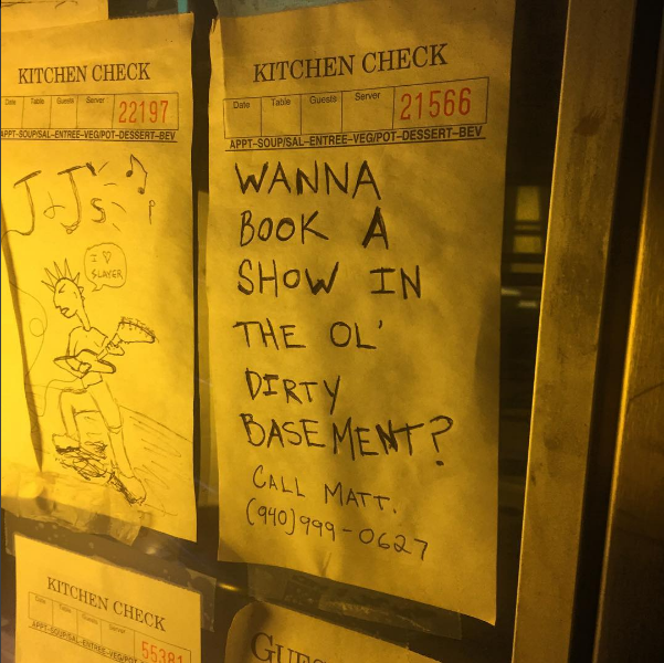 This weekend brought news that J and J's Ol' Dirty Basement would cease to be a music venue as the owner of the building plans to turn the space into another business entirely. This leaves this week as the last time to catch a show in the basement. Photo by @truxtorm.
