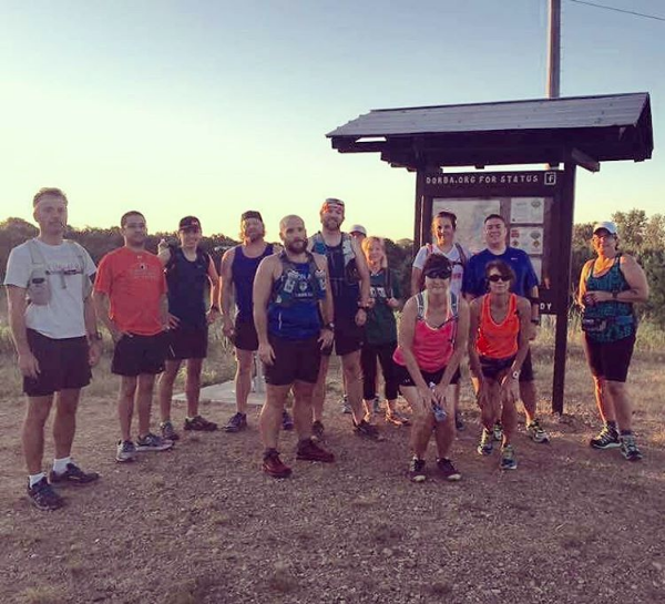 Denton Area Running Club at Knob Hills Trail. Photo by @thefinck.